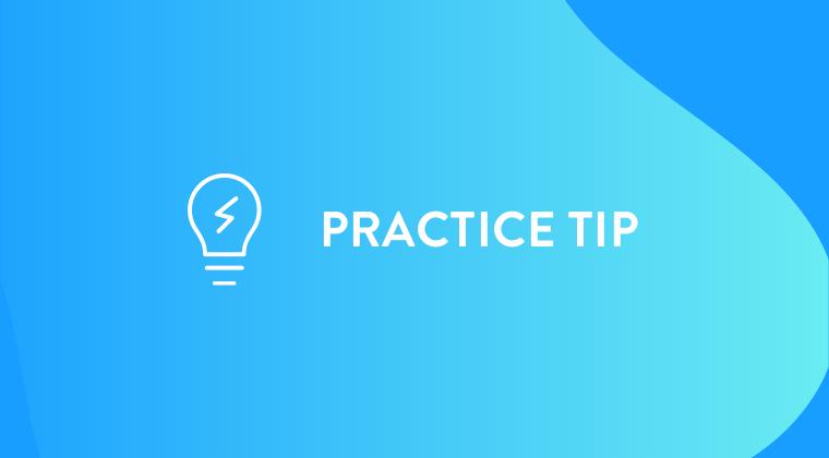Practice tip webinar